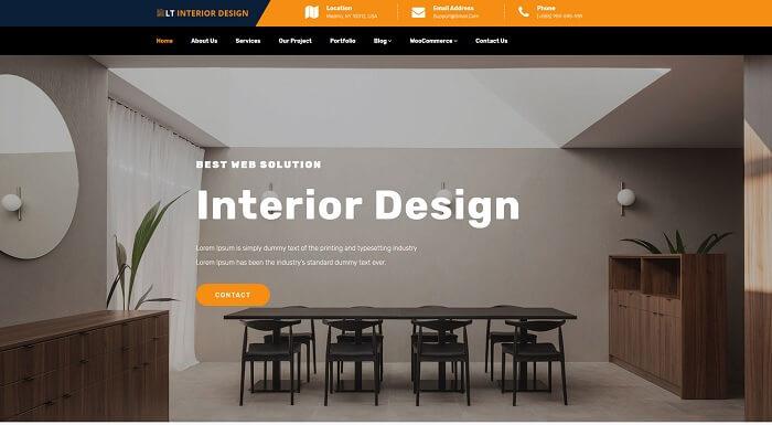 LT Interior Design là chủ đề WordPress được thiết kế dành riêng cho cửa hàng nội thất