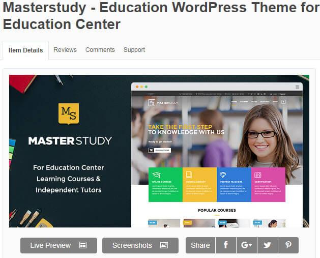 Masterstudy có giao diện đẹp, lôi cuốn, bố cục hài hòa cho những học viên