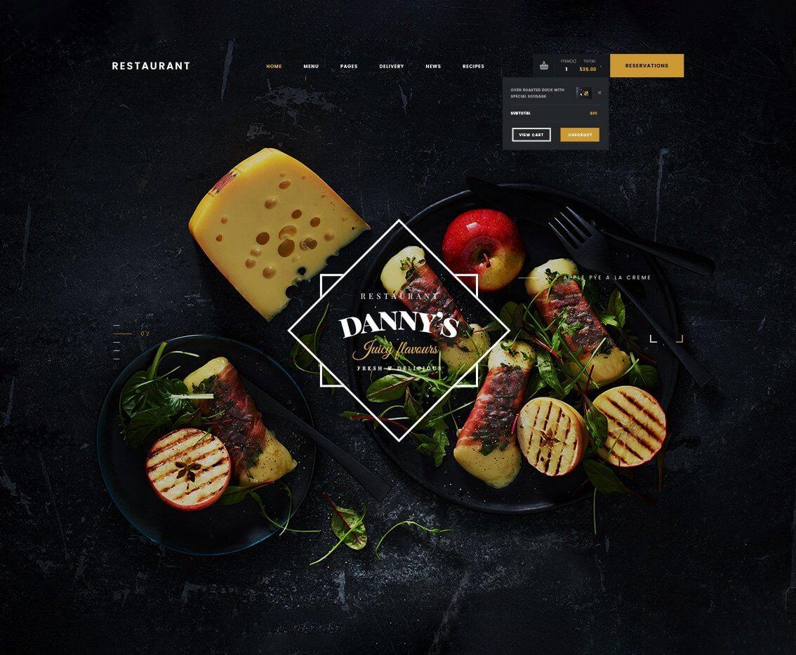 Template giao diện mẫu Dannys Restaurant
