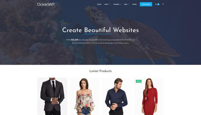 oceanwp-theme wordpress bán hàng chuẩn seo