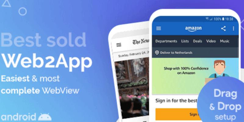 template ứng dụng cho thiết bị di động android