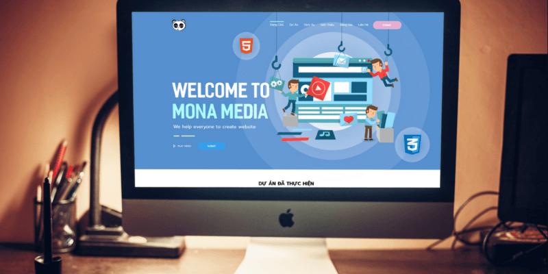 thiết kế website nhập hàng mona media