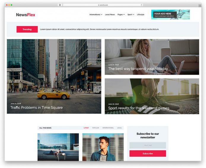 Mẫu website tin tức NewFlex